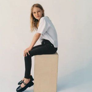 Zara Girls Basic Black Skinny Jeans